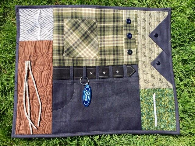 Sewing Wilde Alzheimers Fidget Quilt
