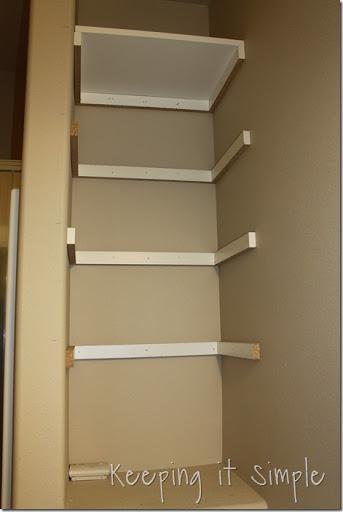 Elegant DIY Shelves For A Small Bathroom