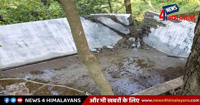 हिमाचल: पानी की पहली बूंद गिरते ही टूट गया सिंचाई टैंक, लाखों की लागत से बना था