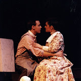 Kevin Miller and Laura LaTorre in LOOK HOMEWARD, ANGEL (R) - March 1994.  Property of The Schenectady Civic Players Theater Archive.