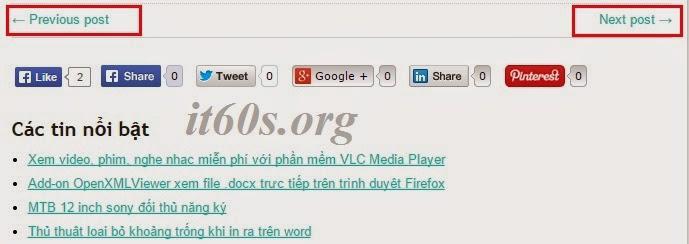 thay next & previous post wordpress bằng tiêu đề bài viết