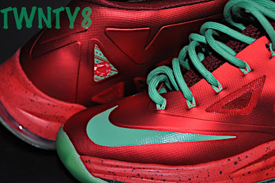 nike lebron 10 gr christmas ruby 3 08 Detailed Look at the Nike LeBron X Christmas / Ruby Edition