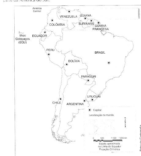 MAPAS Amrica do Sul Continente Americano e Mapa Mndi  Sempre