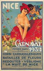 Carnaval de Nice affiche 1934