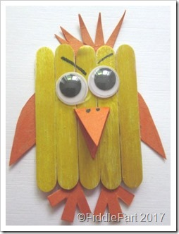 Popsicle Stick Easter Chick