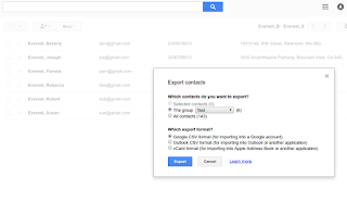 Use Google Drive contact groups