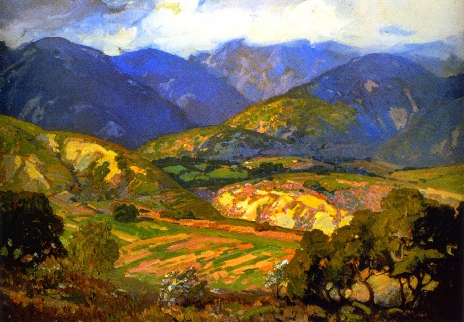 Franz Bischoff - Clouds Drifting over the Mountains