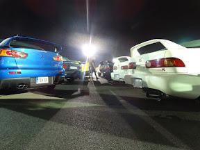 Mitsubishi & Integra back to back