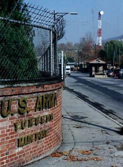 Entrance to USA Yongsan Base