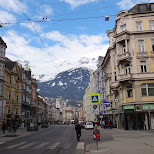 street in innsbruck in Innsbruck, Tirol, Austria