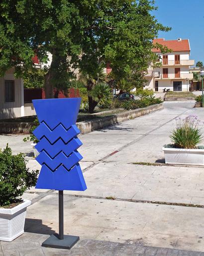 Gibellina - Straßenkunst 'blau'