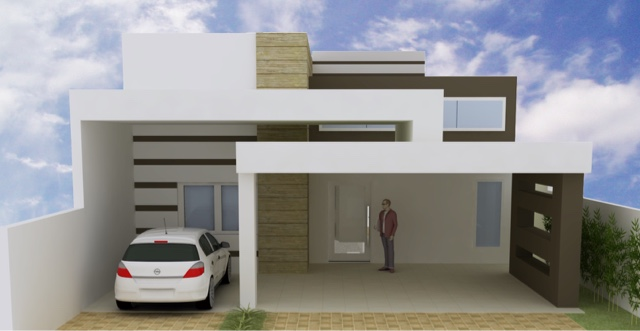 Well-known Arquitetando meus sonhos: 12 Fachadas de Casas Pequenas e Modernas WG89