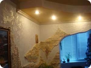 декоративная внутренняя отделка стен