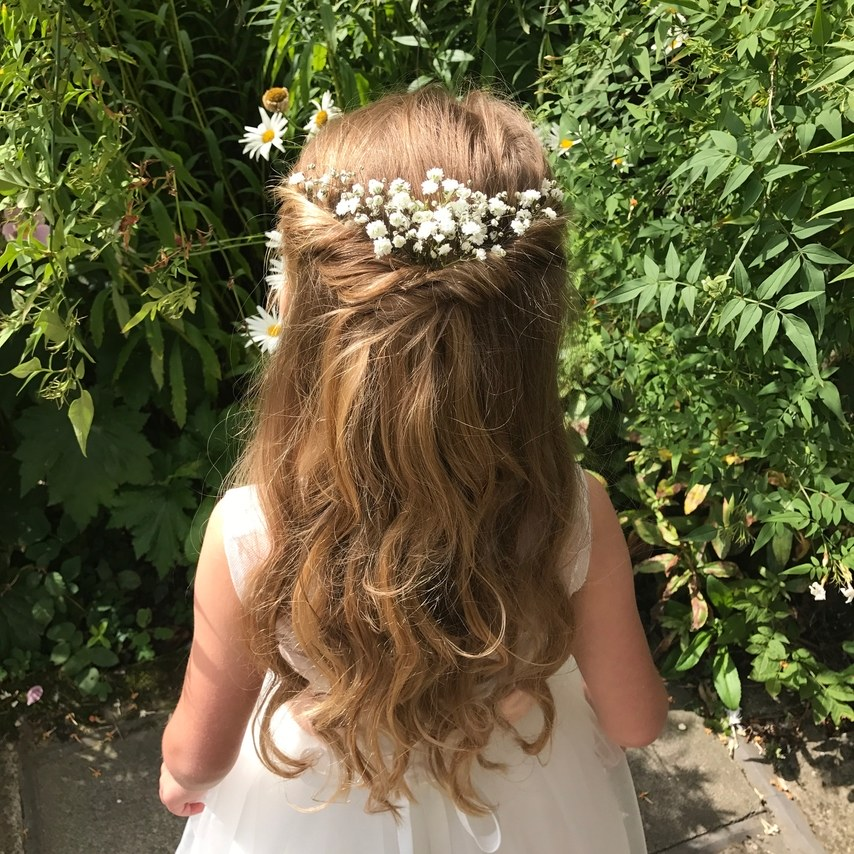 Adorable-Easy flower girl hairstyles, Don't miss the post. 1