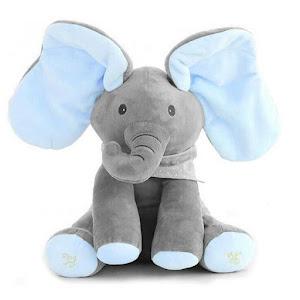 Elefant interactiv din plus - vorbeste, canta si flutura urechile - Peek a Boo