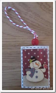 snowman matchbox