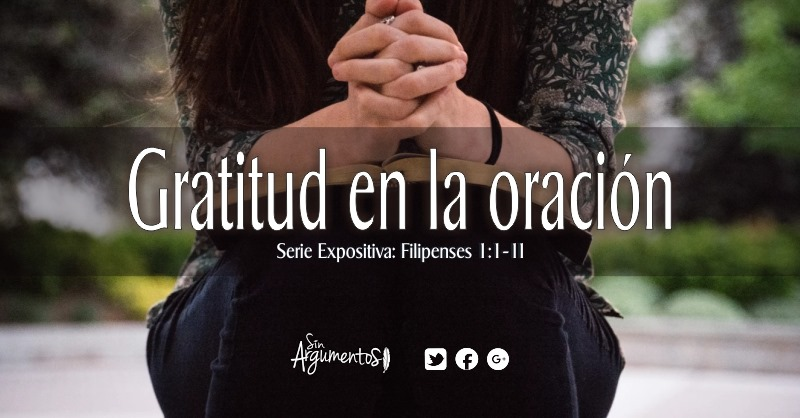 Gratitud en la oración
