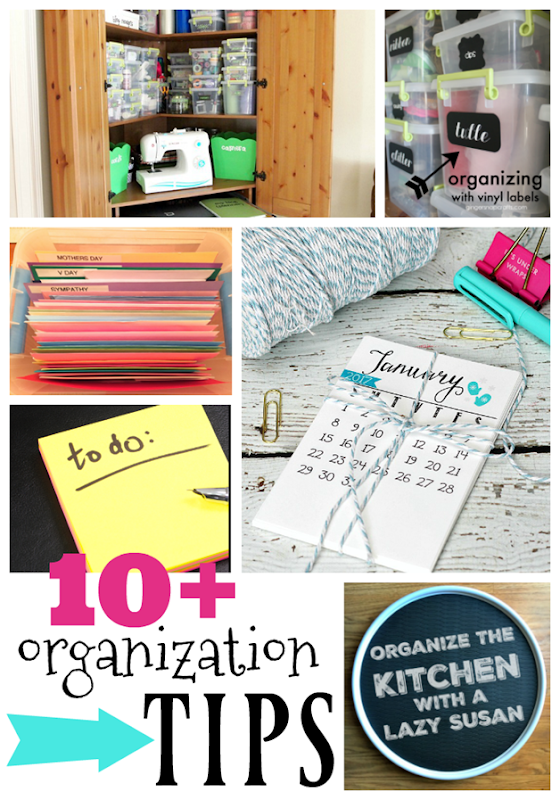 10  Organization Tips at GingerSnapCrafts.com #organization #tipsandtricks