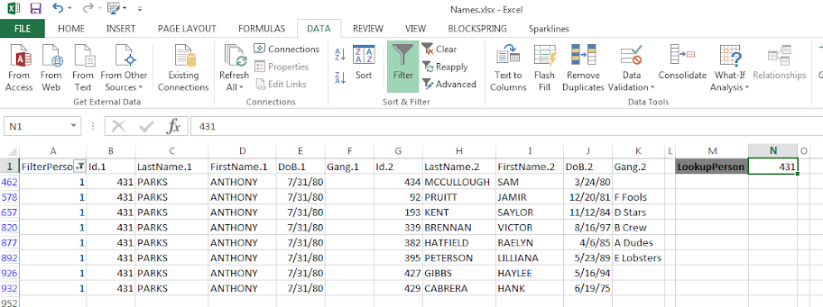 Making and Exploring Crime Networks (Access and Excel