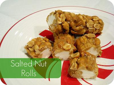 salted nut rolls Christmas holiday no-bake treats