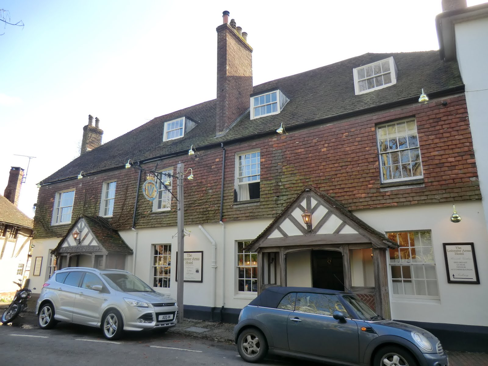 CIMG9930 A new look for the Leicester Arms Hotel, Penshurst