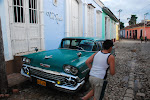 Great care is made to keep cars like this one going. The Cuban town of Trinidad is a World Heritage listed site.