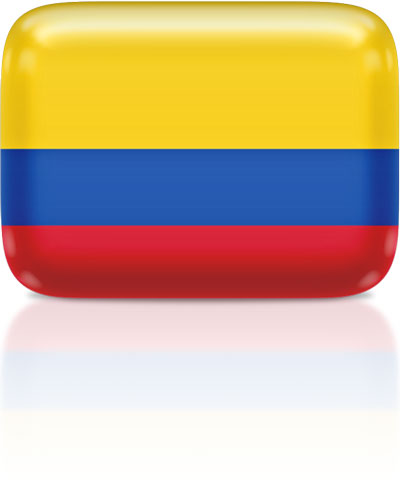 Colombian flag clipart rectangular