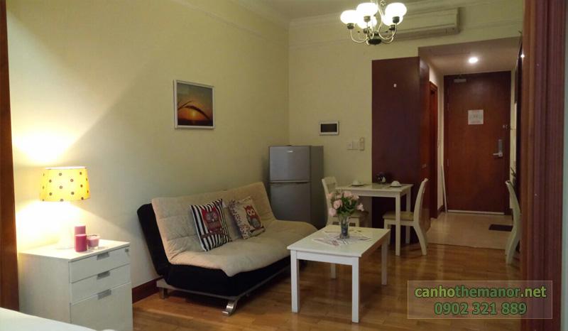 cho thue studio the manor phòng khách căn hộ 38m2
