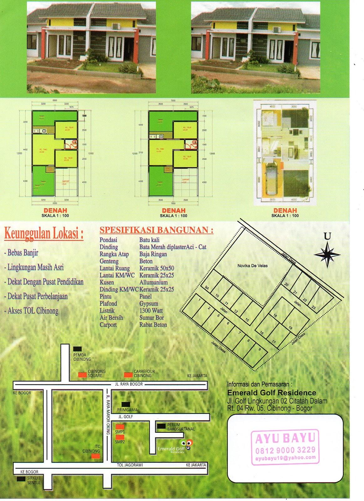 AYUBAYU PRO Rumah Ready Stock Di Cibinong Harga 300 Jutaan