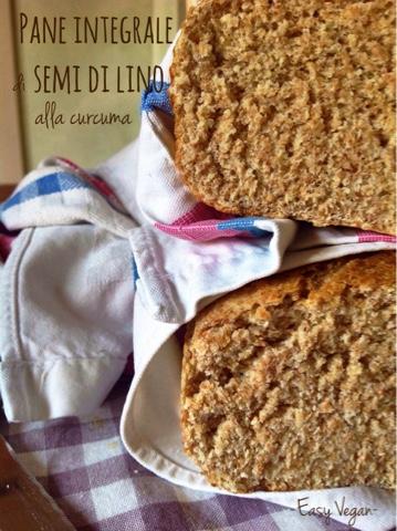 Pane integrale di semi di lino alla curcuma