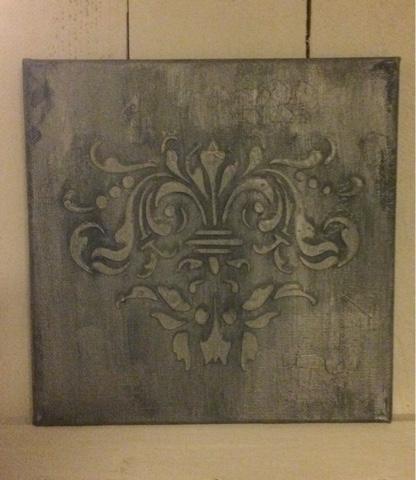 Canvas bewerken met krijtverf en structuurpasta