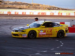 Yellow PS13 drift car