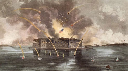 Ft Sumter in battle 530 wide