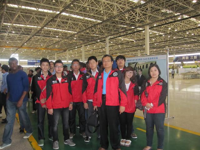 Mahasiswa Shenyang Aerospace University mengunjungi AVIC SACC bersama BLCI