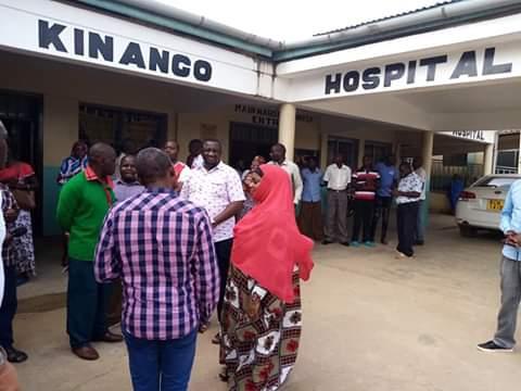 Impromptu visit at Kinango hospital by H.E Salim Mvurya. PHOTO |  BMS