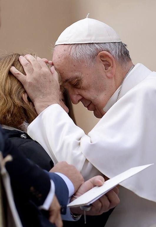 Francis forehead
