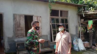 Melalui Komsos, Babinsa Srihardono Himbau Warga Untuk Taati Protokol Kesehatan