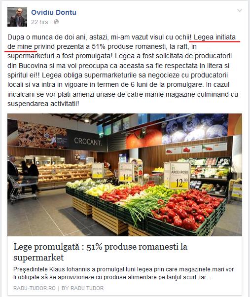 """Așa-zisa """"Lege Donțu"""" nu este a lui Donțu. Cum se laudă senatorul PSD cu un proiect inițiat de alți opt parlamentari"""