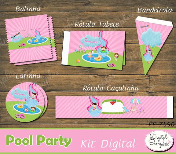 Kit Digital Pool Party  .....artesdigitalsimples@gmail.com