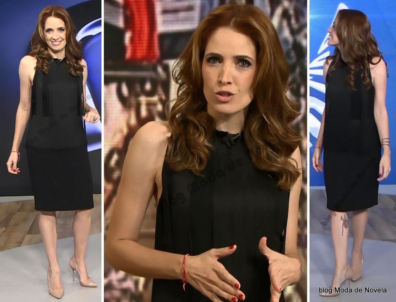 moda do programa Fantástico, look da Poliana Abritta dia 2 de novembro