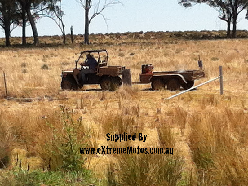 500cc Agmax Military Agricultural Farm Ute in action on Farm in Australia