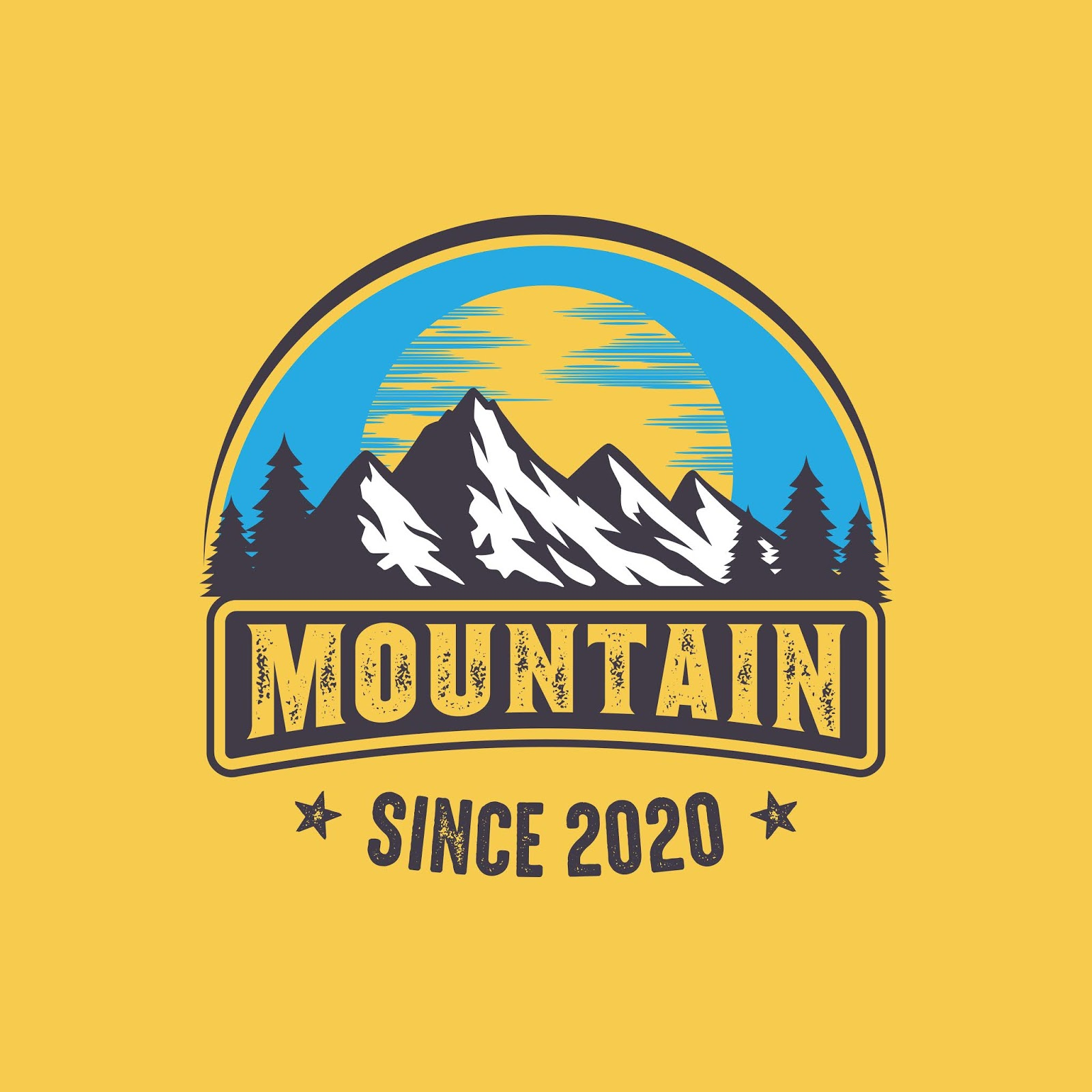 Mountain Logo Adventure Outdoor Logo Funny Free Download Vector CDR, AI, EPS and PNG Formats