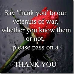 thank you to vets