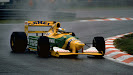Michael Schumacher on his way to his first Grand Prix win Benneton B192 (Belgium 1992)