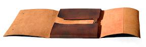 . кожаная папка ручной работы, индивидуальный размер, почти А3