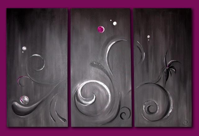 ansichthoch3 triptychon abstrakt. Black Bedroom Furniture Sets. Home Design Ideas