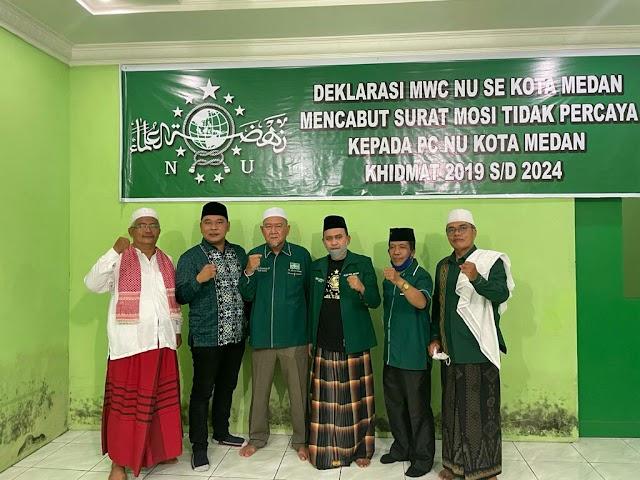 Deklarasi MWC NU Se Kota Medan Setelah Enam Hari Mencabut Mosi Tidak Percaya Kepada PC NU Kota Medan