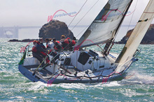 J/125 Double Trouble- Andy Costello- sailing Big Boat Series- at Pt Blunt Angel Island