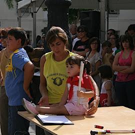 Encierro infantil en la Feria de Montijo
