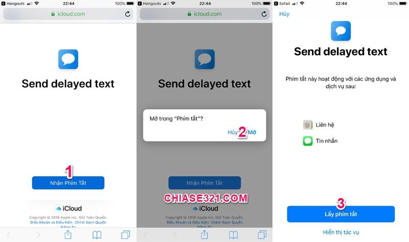 cách tự động hẹn giờ gửi tin nhắn trên iphone